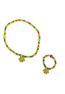Tatiri Owl Bracelet and Necklace (Green Owl)