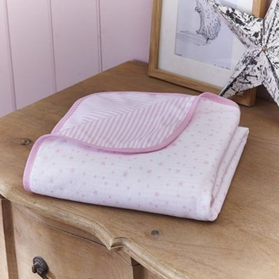 Clair de Lune Cot Blanket (Stars & Stripes Pink)