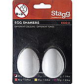 Stagg Egg Shakers Pair - White