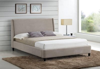 Sand Fabric Finished Contemporary Styled Bed Frame - King Size 5ft