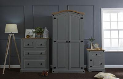 Corona Trio Bedroom Set Grey