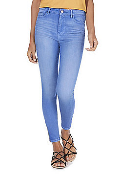 F&F Contour High Rise Skinny Jeans with LYCRA® BEAUTY - Blue