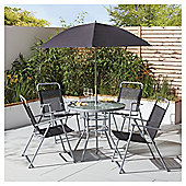 Tesco Hawaii 6 Piece Black Garden Dining Set