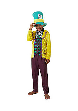 Disney Alice in Wonderland Mad Hatter Fancy Dress Costume - Multi