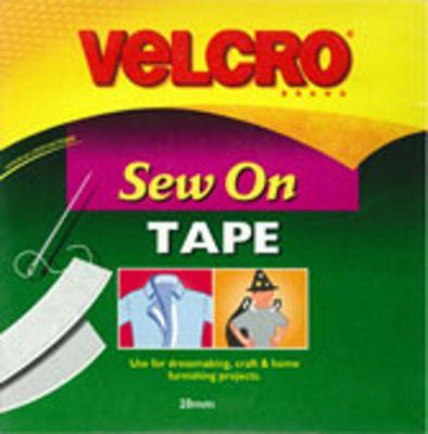 Velcro Sew N Sew 20mm - White