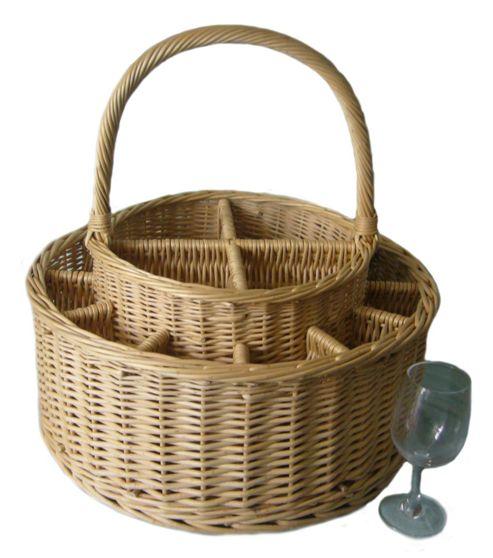Wicker Valley Garden Party Basket