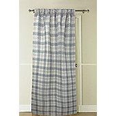 Country Club Thermal Door Curtain, 117 x 213cm, Grey Natural Tartan