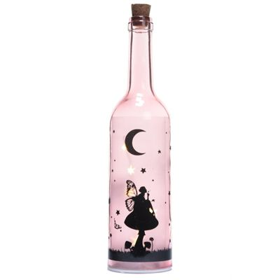 Puckator Fairy Dream Decorative Bottle with LED Bottle, Pink