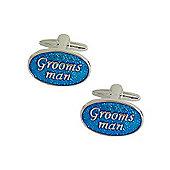 Blue Enamel Groomsman Wedding Cufflinks