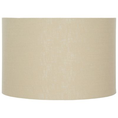 45cm Butterscotch Double Lined Linen Drum Shade