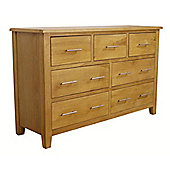 Nebraska Modern Oak 3 Over 4 Chest of Drawers