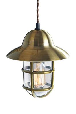 Tristan Industrial Brass Pendant Light