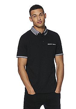 F&F Premium Polo Neck Top - Black