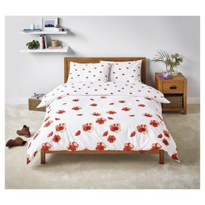 Tesco Poppy  Duvet Set Single