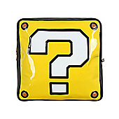 Super Mario Nintendo Question Mark Box Shaped Yellow Backpack