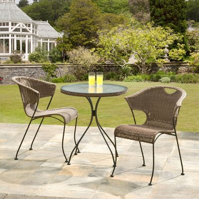 Buy Suntime Wadebridge Rattan Bistro Set From Our Metal Garden Furniture Range Tesco