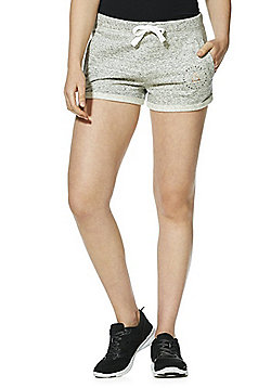 F&F Active Believe In Yourself Sweat Shorts - Grey