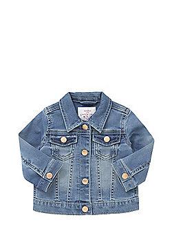 F&F Loopback Stretch Denim Jacket - Blue