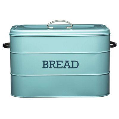Living Nostalgia Vintage Bread Bin, Blue
