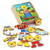 Viga Wooden Dress Up Bear Box Set
