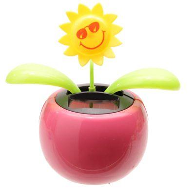Sunflower Solar Pal Novelty Ornament, Pink