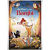 Disney Bambi 1988 Vintage Canvas Print Wall Art