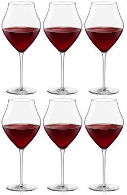 Arte Extra Large Wine Glasses - Gift box Of 6 Glasses - 655ml