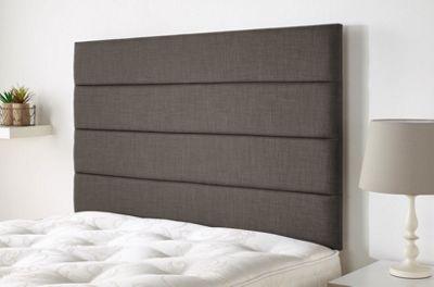 Langston headboard in Malham Weave Linen - Slate - (3ft)
