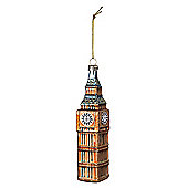 Glass Big Ben Bauble - Christmas Tree Decoration