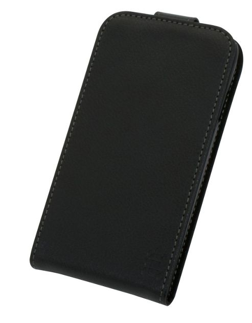 Tortoise™ Genuine Leather Flip Case Samsung Galaxy S4 Black