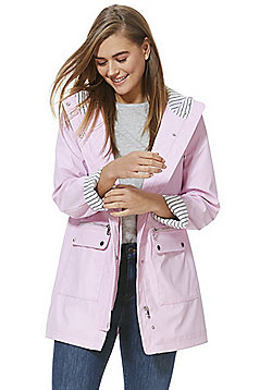 F&F Shower Resistant Mac - Pink
