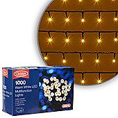 1000 LED Warm White Chaser Christmas Lights