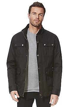 F&F Waxed 4 Pocket Jacket - Black