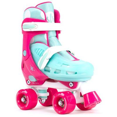 SFR Hurricane II Pink/Blue Quad Roller Skates UK 3-6 (Large)