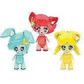 Glimmies Rainbow Friends 3 Pack Loupiana,Conexia & Honeymia