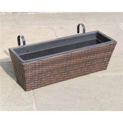 Hand Woven Rattan Window Basket - Large