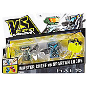 Vs Rip-spin Warriors Halo 2 Pack - Master Chief Vs Spartan Locke