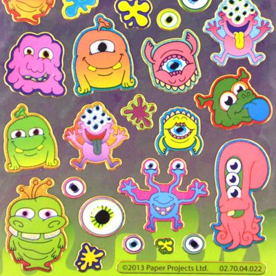 Monsters and Aliens Stickers
