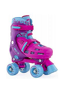SFR Hurricane Adjustable Quad Roller Skates - Pink - Pink