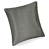 Hamilton Mcbride Faux Silk Cushion Cover Grey - 43x43cm