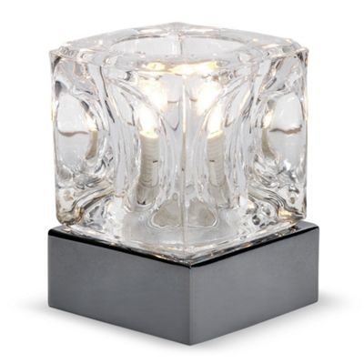 Ice Cube Touch Table Lamp, Black Chrome