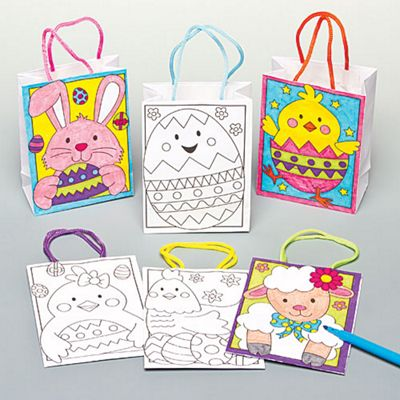 Buy easter colour in mini gift bags for children to decorate and easter colour in mini gift bags for children to decorate and embellish pack of negle Gallery