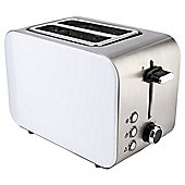 Tesco 2 Slice Stainless Steel Toaster - White