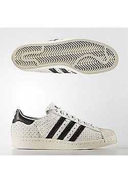 adidas Originals Womens Superstar '80s Snakeskin Effect Trainers - White