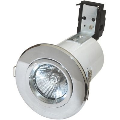 Robus GU/GZ10 Straight Fire Rated Downlight - Chrome (RF201-03)
