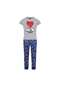 Peanuts Snoopy Girls Pyjamas - Grey