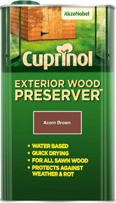 Cuprinol Exterior Wood Preserver - Acorn Brown - 5 Litre