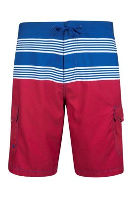 Mountain Warehouse Ocean Mens Striped Boardshorts ( Size: XS )