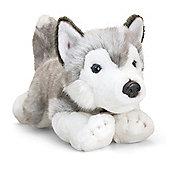 Deluxe Husky Dog 35cm - Storm