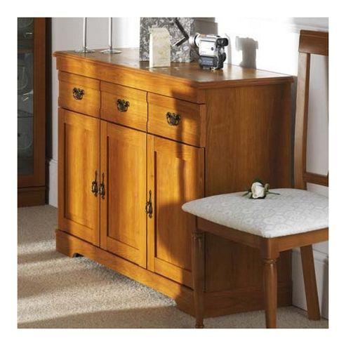 Caxton Canterbury 3 Door / 3 Drawer Sideboard in Golden Chestnut